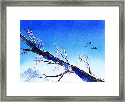 Spring In The Mountains Framed Print by Irina Sztukowski