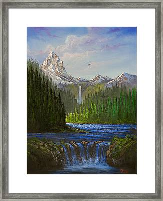 Spring In The Rockies Framed Print by C Steele