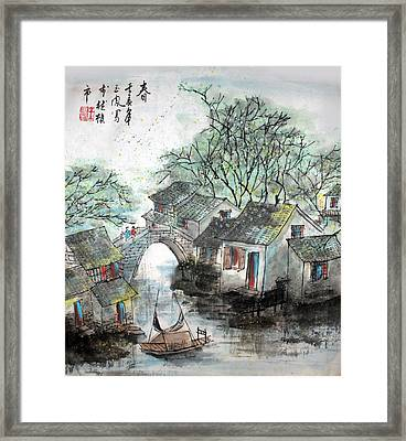 Framed Print featuring the photograph Spring In Watertown by Yufeng Wang
