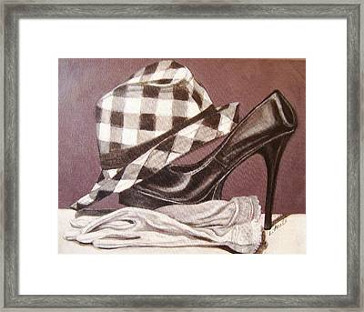 Framed Print featuring the painting Spring In Your Step by Laura Aceto