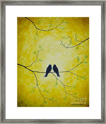 Spring Is A Time Of Love Framed Print