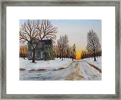 Spring Is Coming Framed Print by Jack G  Brauer