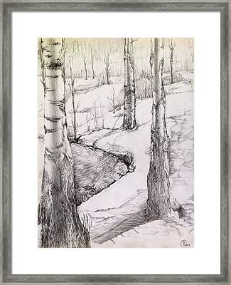 Framed Print featuring the drawing Spring by Iya Carson