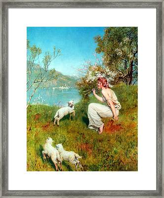 Spring Framed Print by John Collier