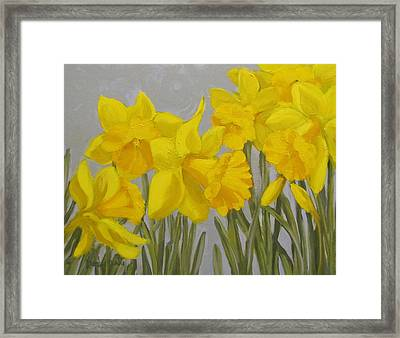 Framed Print featuring the painting Spring by Karen Ilari