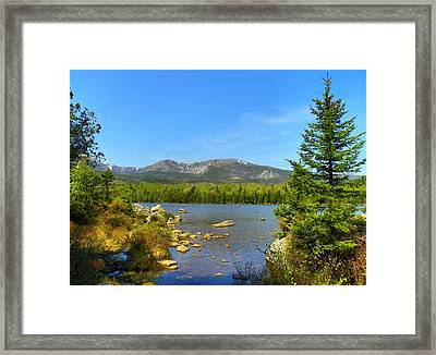 Framed Print featuring the photograph Spring Katahdin by Gene Cyr