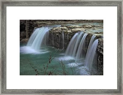 Spring King River Arkansas Framed Print by Cindy Rubin