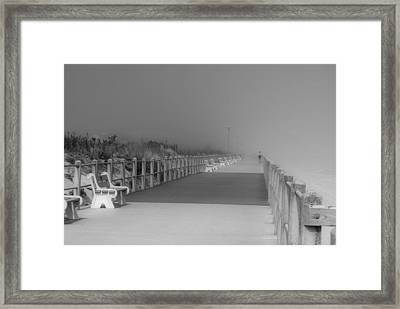Spring Lake Boardwalk - Jersey Shore Framed Print