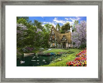 Spring Lake Cottage Framed Print by Dominic Davison