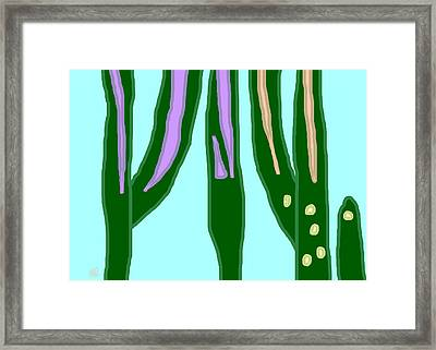 Spring Landscape On An Overcast Day 1 Framed Print by Anita Dale Livaditis