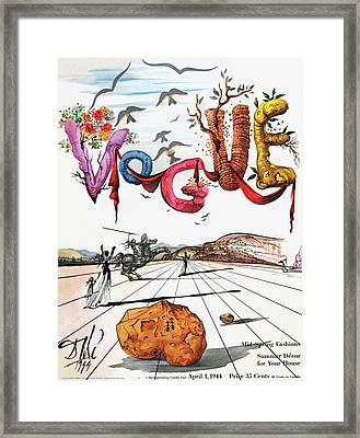 Spring Letters With A Visage Of Dali Framed Print by Salvador Dali