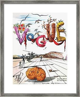 Spring Letters With A Visage Of Dali Framed Print