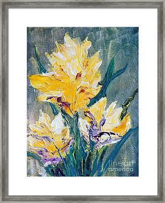 Spring Love Framed Print by Teresa Wegrzyn