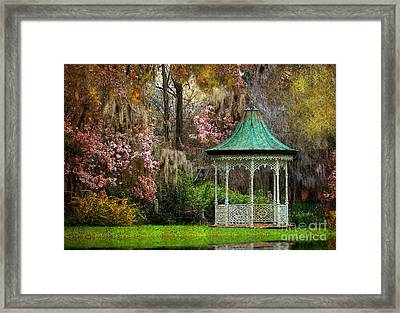 Framed Print featuring the photograph Spring Magnolia Garden At Magnolia Plantation by Kathy Baccari