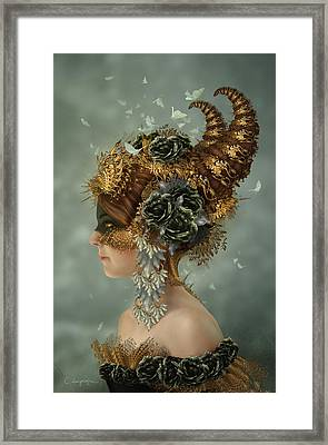 Spring Masquerade Framed Print by Cassiopeia Art