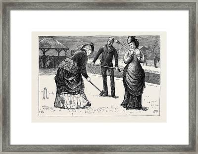 Spring Meeting Of The All England Croquet Club At Wimbledon Framed Print