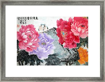 Framed Print featuring the photograph Spring Melody by Yufeng Wang