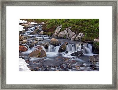 Framed Print featuring the photograph Spring Melt by Bob Noble Photography