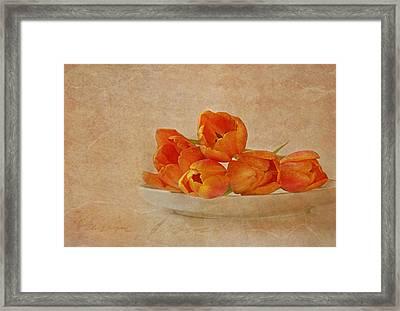 Spring Menu Framed Print by Claudia Moeckel