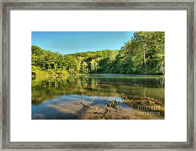 Spring Mill Lake Framed Print