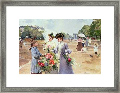 Spring Morning Framed Print by Louis de Schryver