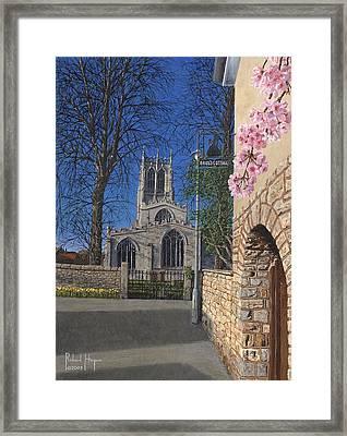 Spring Morning Brides Cottage Tickhill Yorkshire Framed Print by Richard Harpum