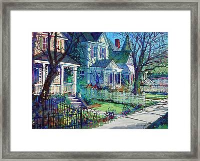 Spring Morning On East Street Framed Print