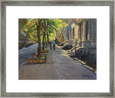 Spring Morning On West 85th Street Framed Print
