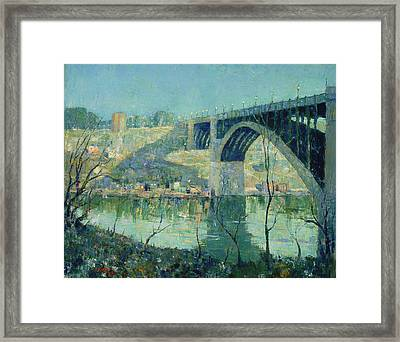 Spring Night On The Harlem River Framed Print by Mountain Dreams
