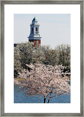 Framed Print featuring the digital art Spring On Fountain Lake by Kelvin Booker