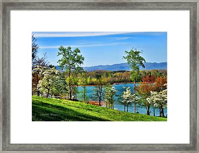 Spring On The Lake Framed Print by Kenny Francis
