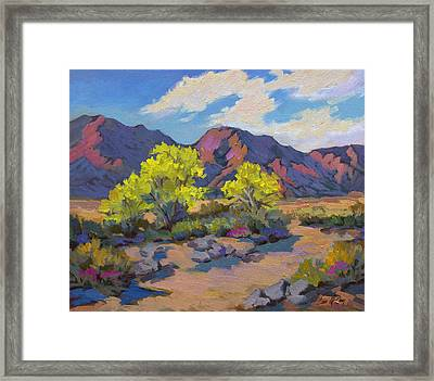 Spring Palo Verde Framed Print by Diane McClary