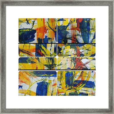 Framed Print featuring the painting Spring Part One by Sir Josef - Social Critic - ART