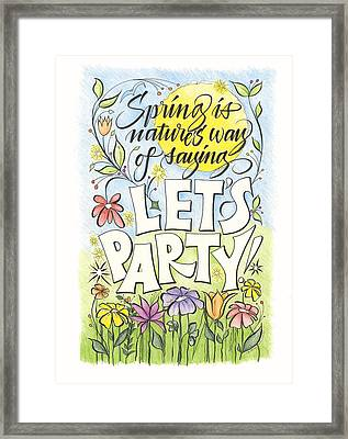 Spring Party Framed Print