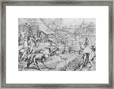 Spring Framed Print by Pieter the Elder Bruegel