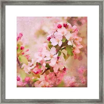 Spring Pink Framed Print by Betty LaRue