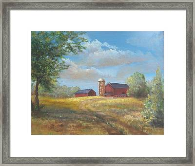 Framed Print featuring the painting Spring Planting by  Luczay