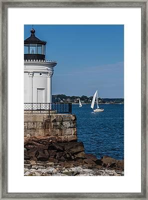 Portland Breakwater Light  Framed Print