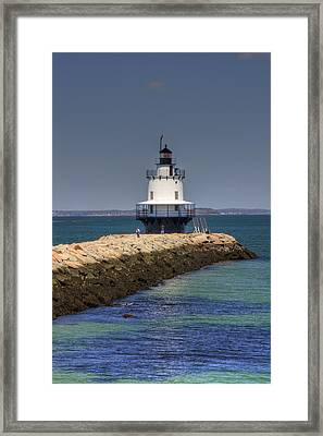 Spring Point Ledge Light Framed Print by Joann Vitali