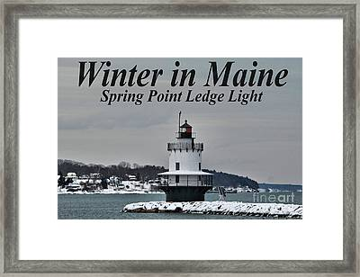 Spring Point Ledge Light_9969a Framed Print by Joseph Marquis