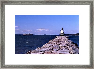 Spring Point Ledge Lighthouse Framed Print by Skip Willits