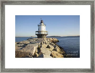 Spring Point Ledge Lighthouse - South Portland Maine Framed Print