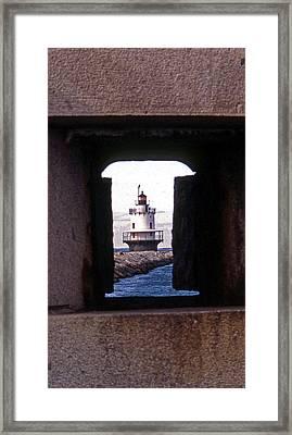 Spring Point Ledge Lightouse Framed Print by Skip Willits