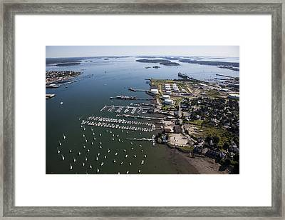 Spring Point, South Portland Framed Print by Dave Cleaveland