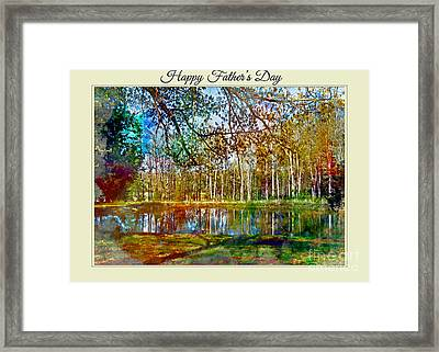 Spring Pond Photoart Father's Day Framed Print by Debbie Portwood