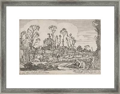 Spring, Print Maker Gillis Van Scheyndel Framed Print by Gillis Van Scheyndel I And Willem Pietersz. Buytewech