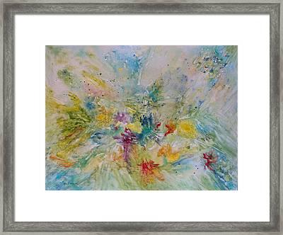 Spring Rain Framed Print by Rosie Brown