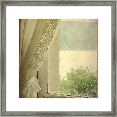 Framed Print featuring the photograph Spring Rain by Sally Banfill
