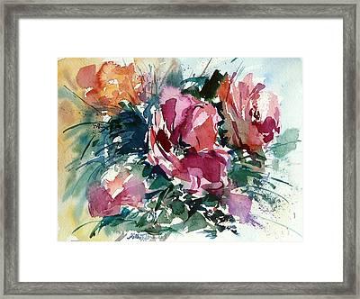 Spring Red Flowers Framed Print