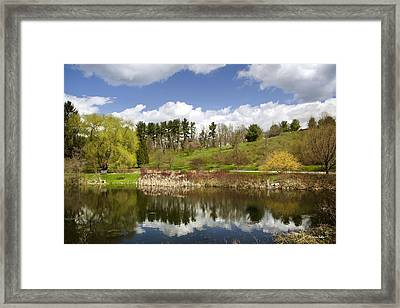 Spring Reflection Landscape Framed Print by Christina Rollo